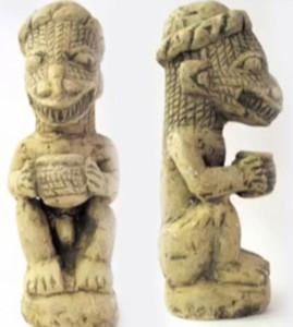 Figurilla de Mesopotamia representativa de uno de sus dioses.